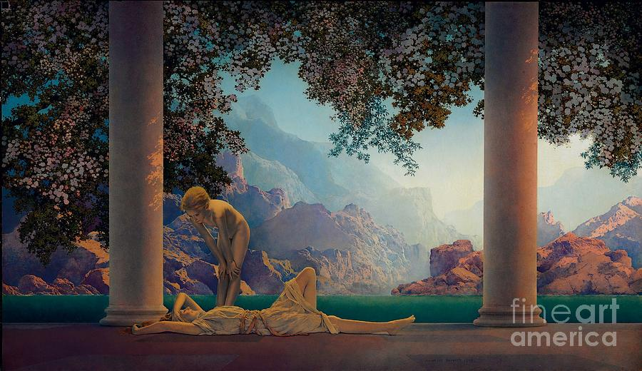 Daybreak 1922 Painting by Maxfield Parrish