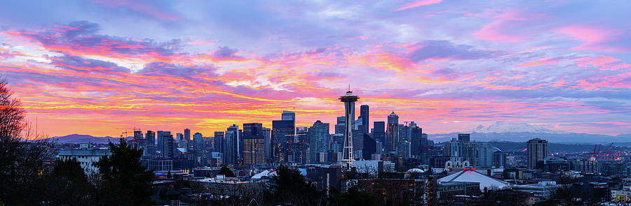 Kerry park Sunrise Panorama by Michael Lee