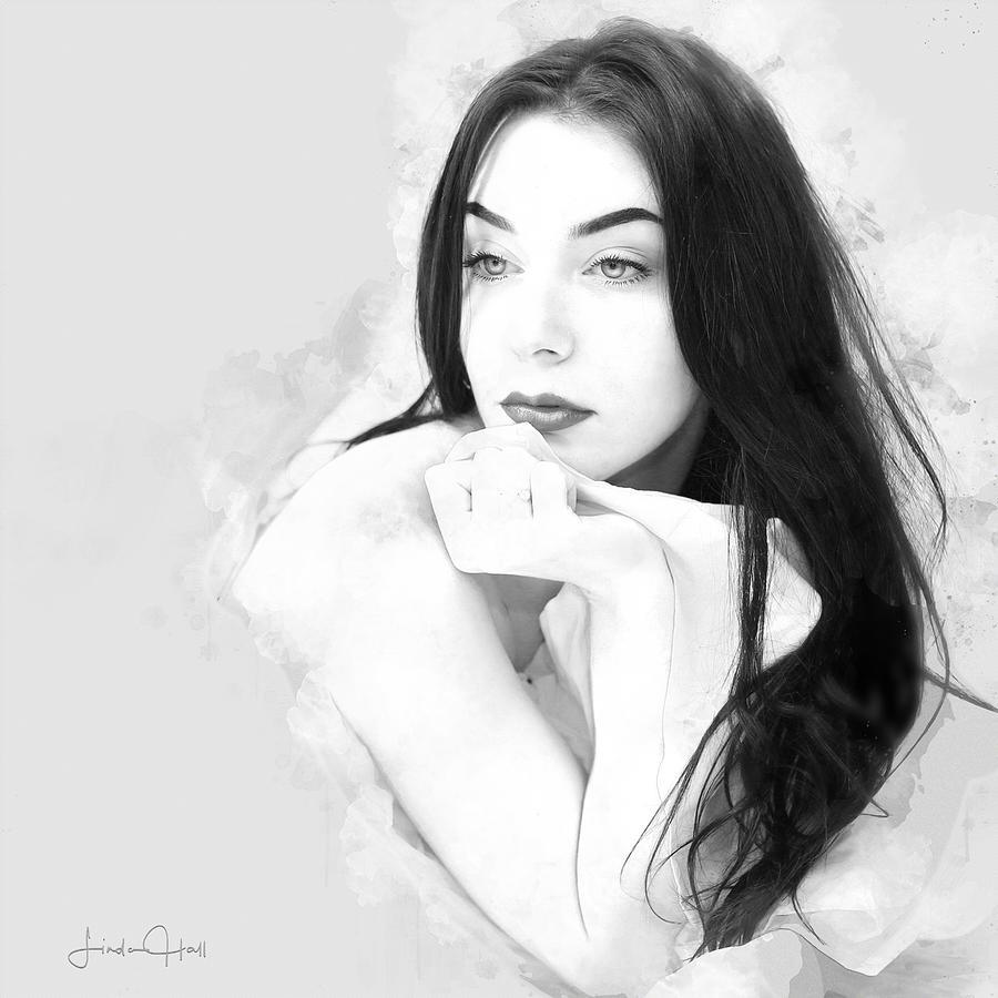 Beautiful Woman Digital Art - Daydreamer by Linda Lee Hall
