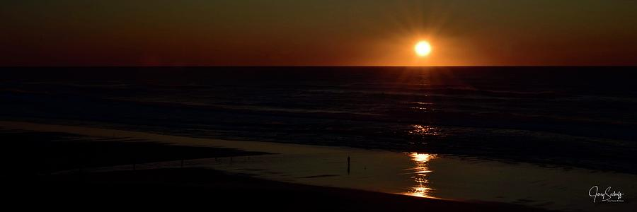 Days End Sunset Over Surf by Jerry Sodorff
