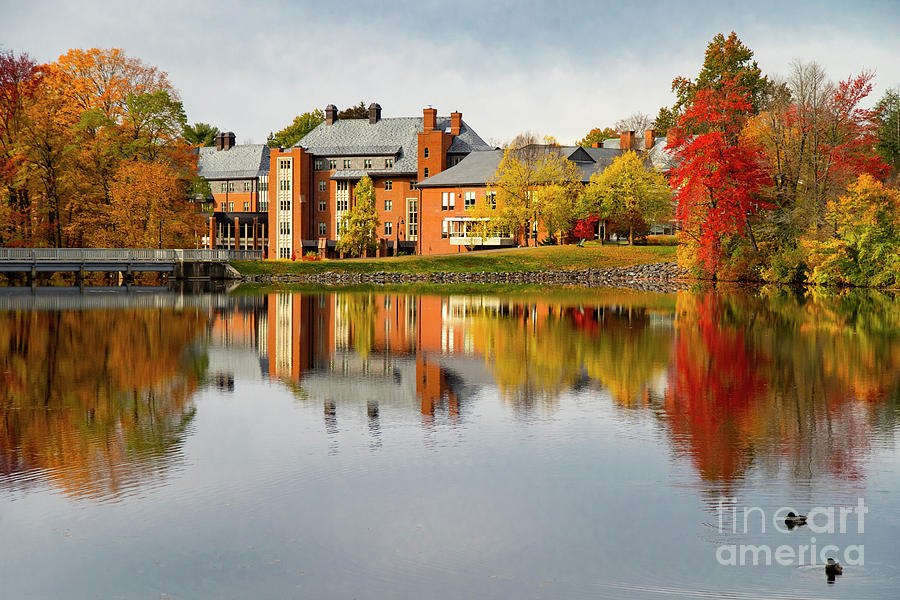 Dazzling Fall Colors Mount Holyoke College South Hadley Massachusetts Photograph