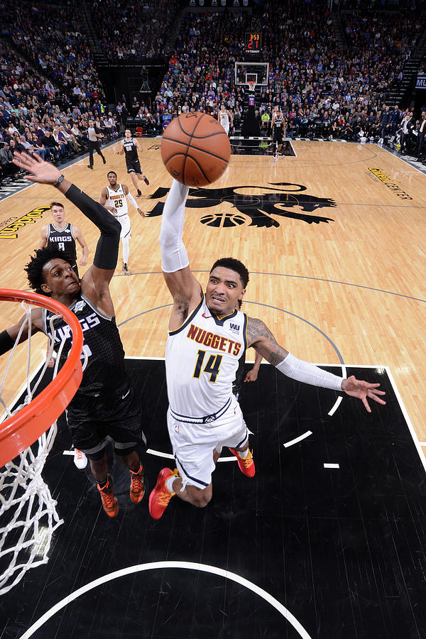 Deaaron Fox and Gary Harris Photograph by Rocky Widner