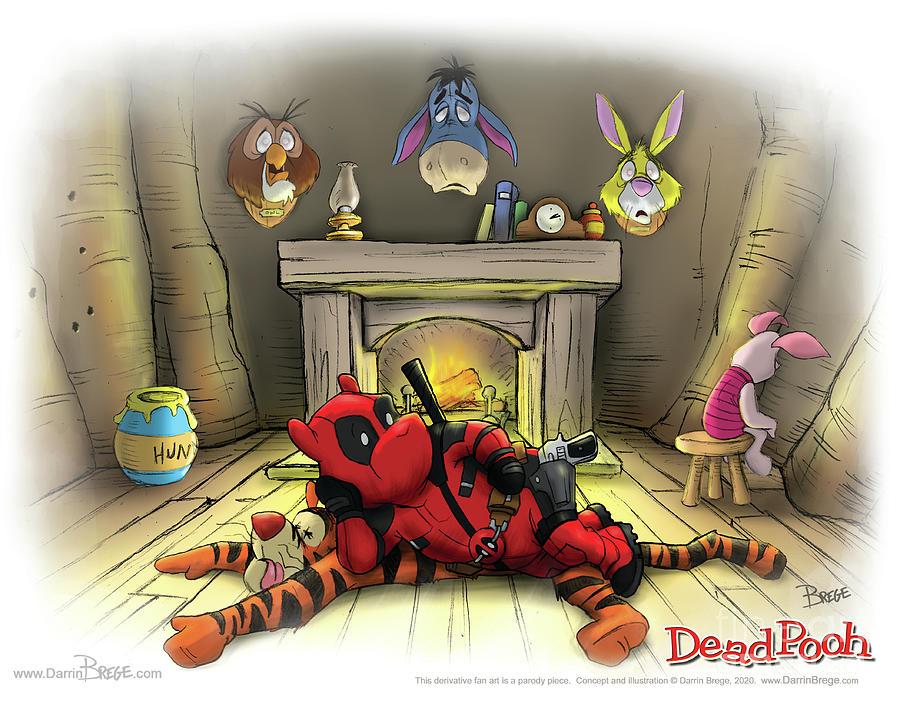 Deadpool Digital Art - Deadpooh by Darrin Brege