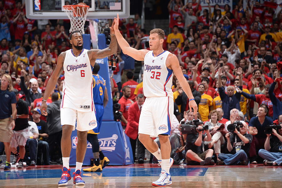 Deandre Jordan and Blake Griffin Photograph by Andrew D. Bernstein