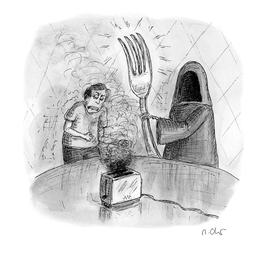 Death Fork Drawing by Roz Chast