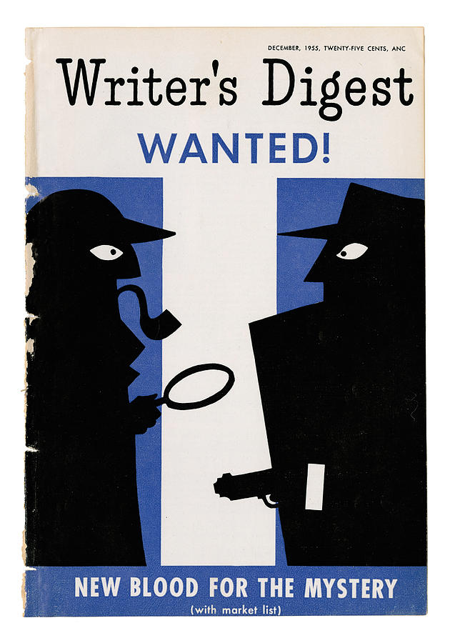 Mystery Digital Art - December 1955 - Wanted  by Writers Digest