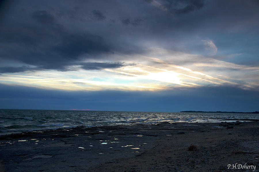 December Evening On Erie Photograph