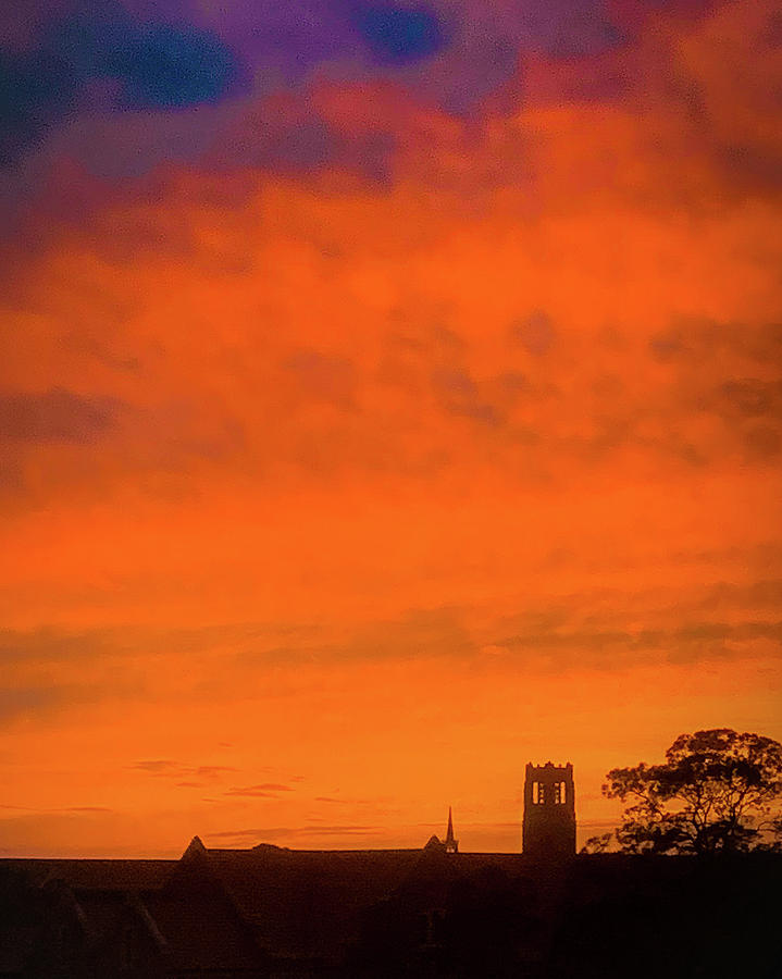 December Sunset Over the University of Florida by Lora J Wilson