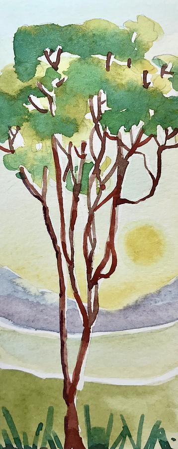 Deco Eucalyptus Tree Painting