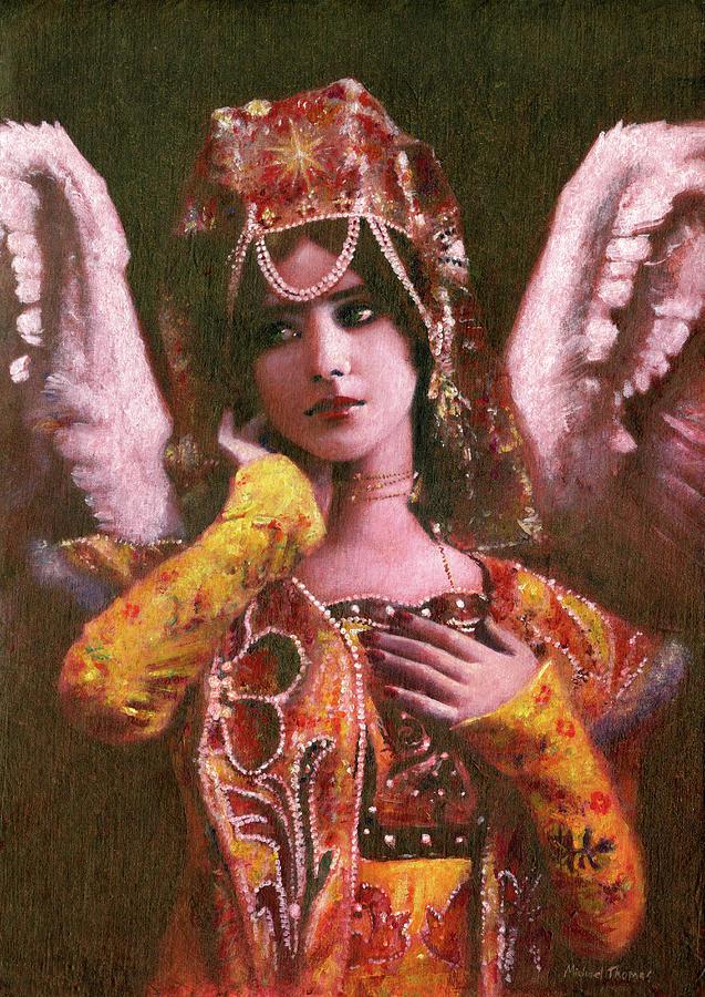 Decorative Vintage Angel Painting