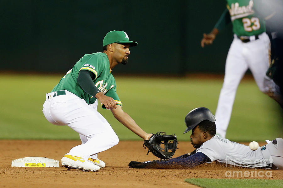 Dee Gordon and Marcus Semien Photograph by Lachlan Cunningham