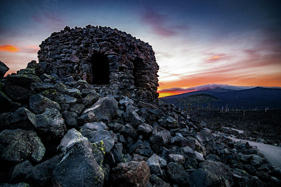 Dee Wright Observatory Sunset 3 Photograph