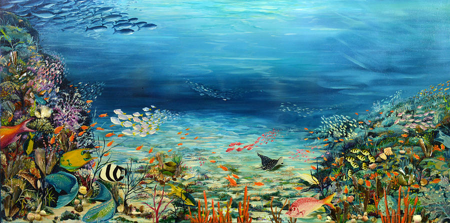 Deep Blue Dreaming Painting by Karin  Dawn Kelshall- Best