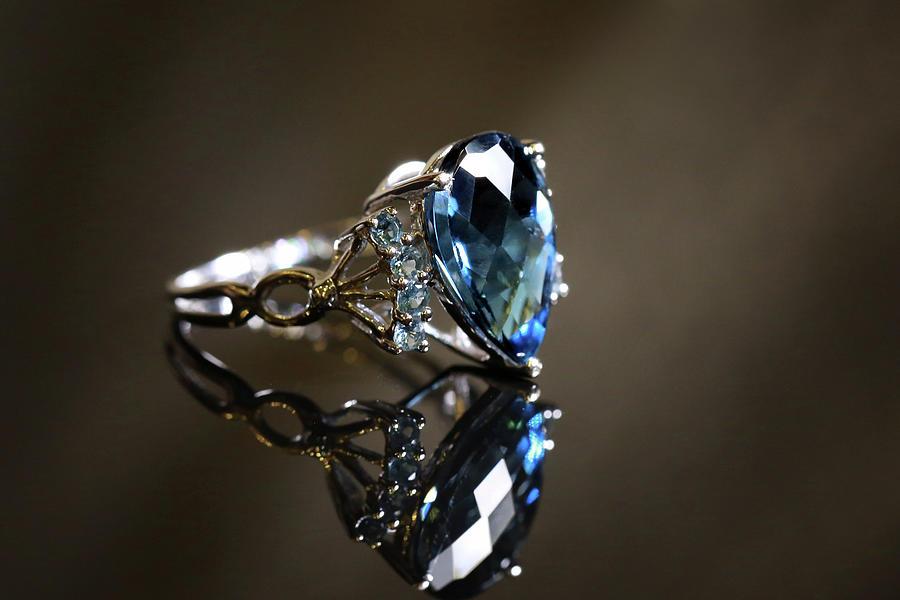 Deep Blue Sapphire Photograph