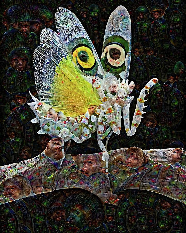 Mantis Digital Art - Deep Dream Mantis by John Bates
