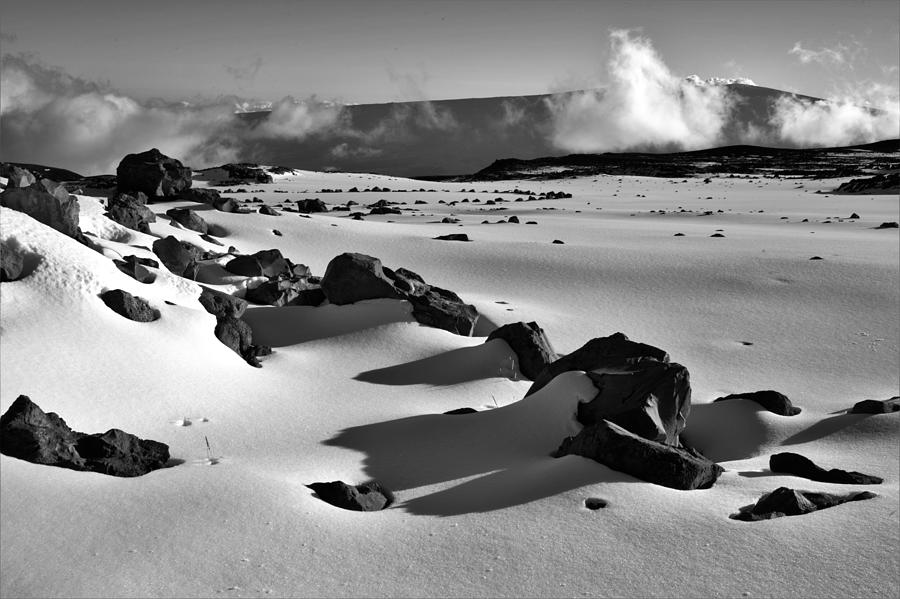 Deep Snow In Black And White Photograph