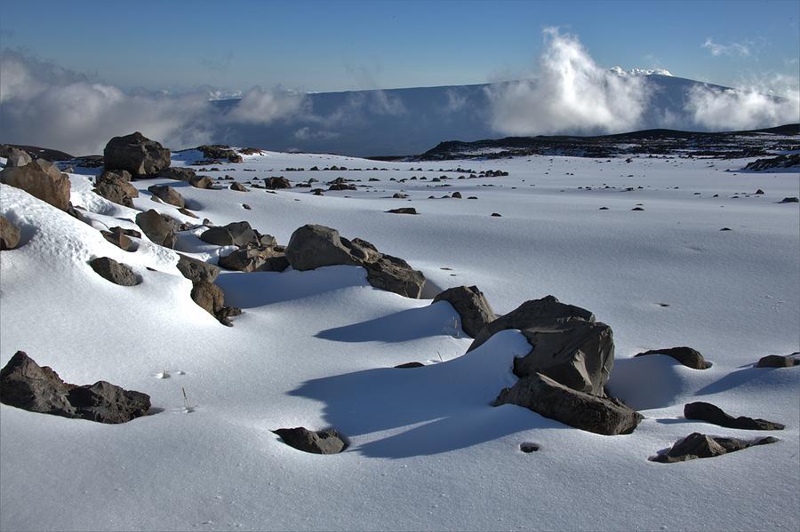 Deep Snow On The Mauna Photograph