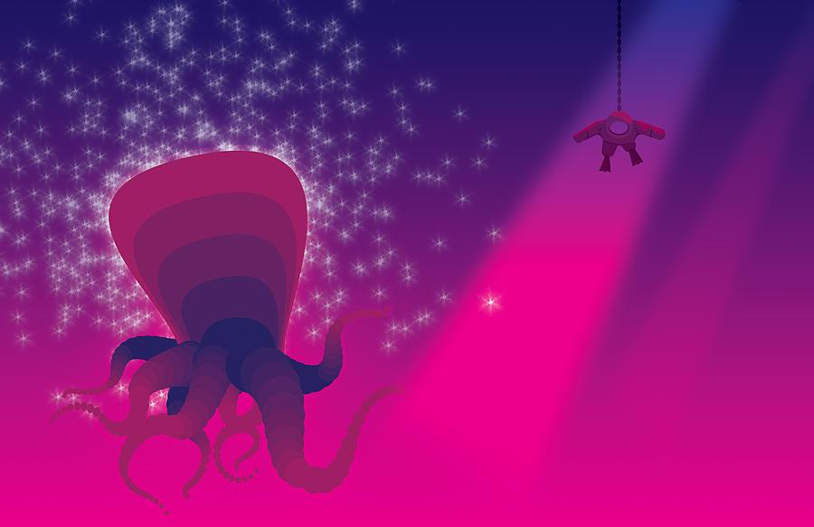 Octopus Digital Art - DeepPulpo by Oscar Vago