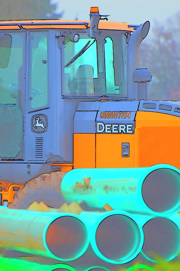 Deere Cab Pipes Photograph