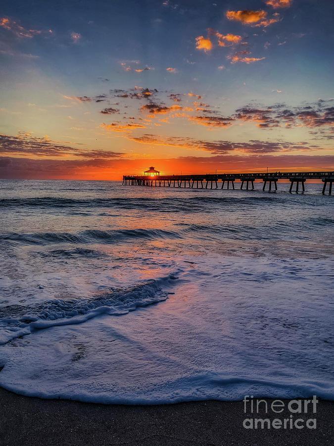 Deerfield Beach Sunrise by Susan Garver