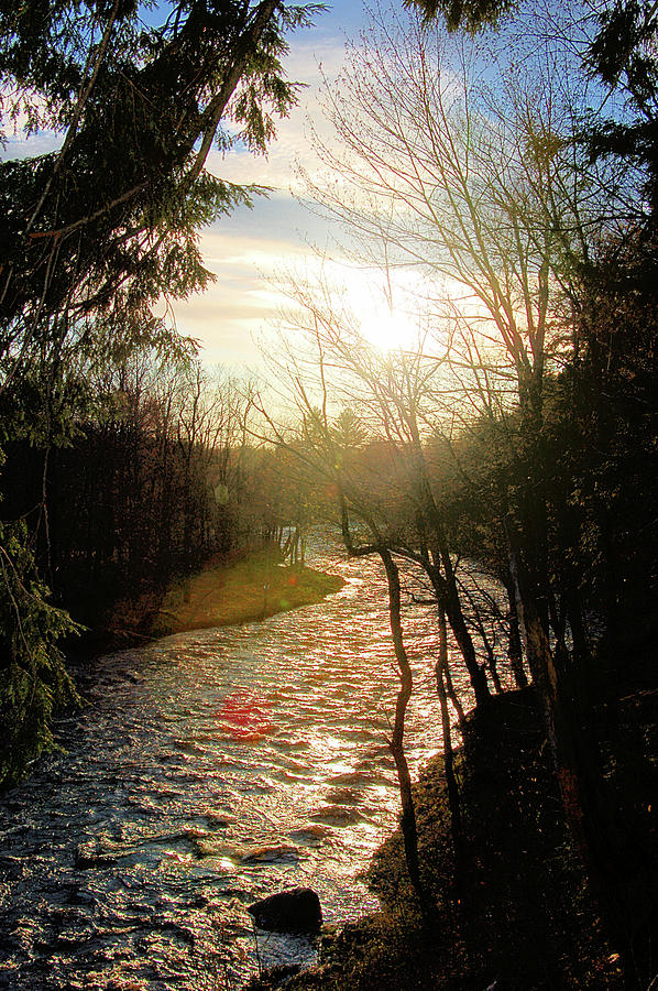 River Photograph - DeGrasse River at Sunset by Kathy McCabe