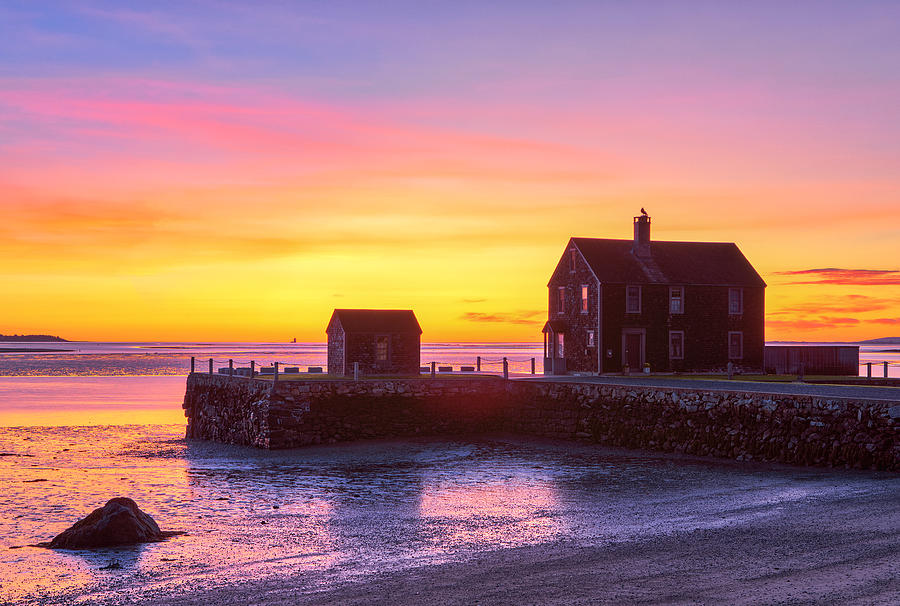 Delano's Wharf on Rocky Nook in Kingston MA by Juergen Roth