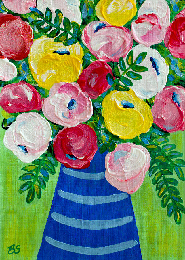 Roses Painting - Delightful by Beth Ann Scott