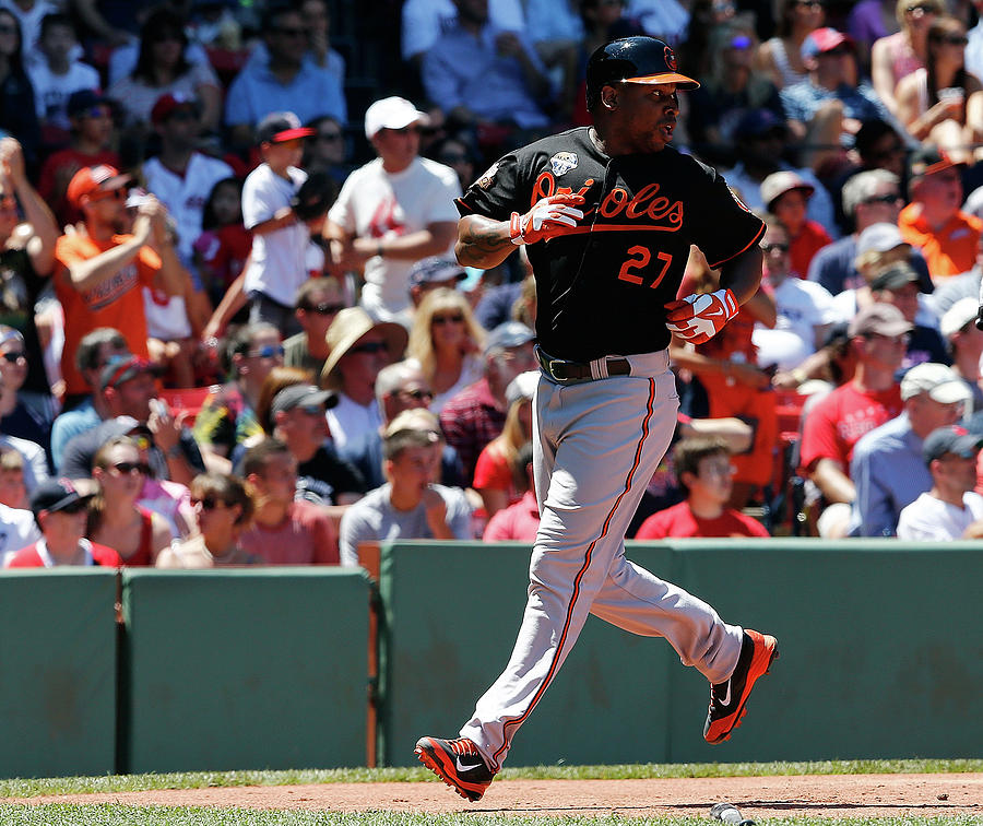 Delmon Young and Xander Bogaerts Photograph by Jim Rogash