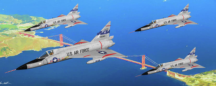 Delta Daggers Of The Ca Air Guard - Art Digital Art