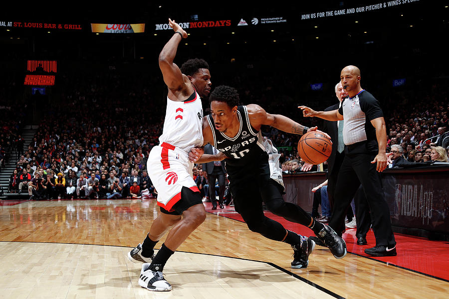 Demar Derozan and Kyle Lowry Photograph by Mark Blinch