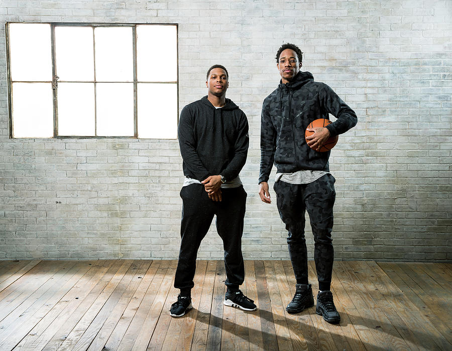 Demar Derozan and Kyle Lowry Photograph by Nathaniel S. Butler