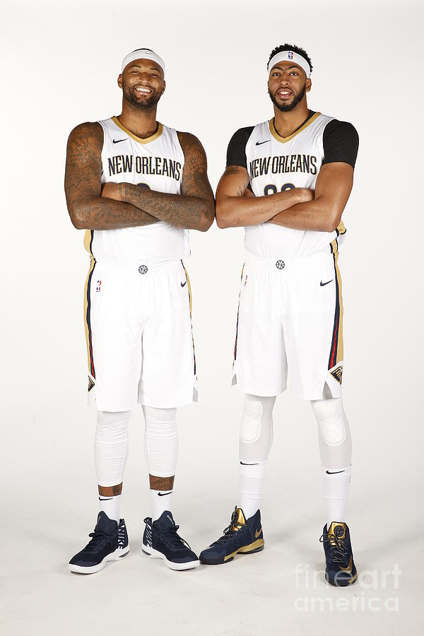 Demarcus Cousins and Anthony Davis Photograph by Jonathan Bachman