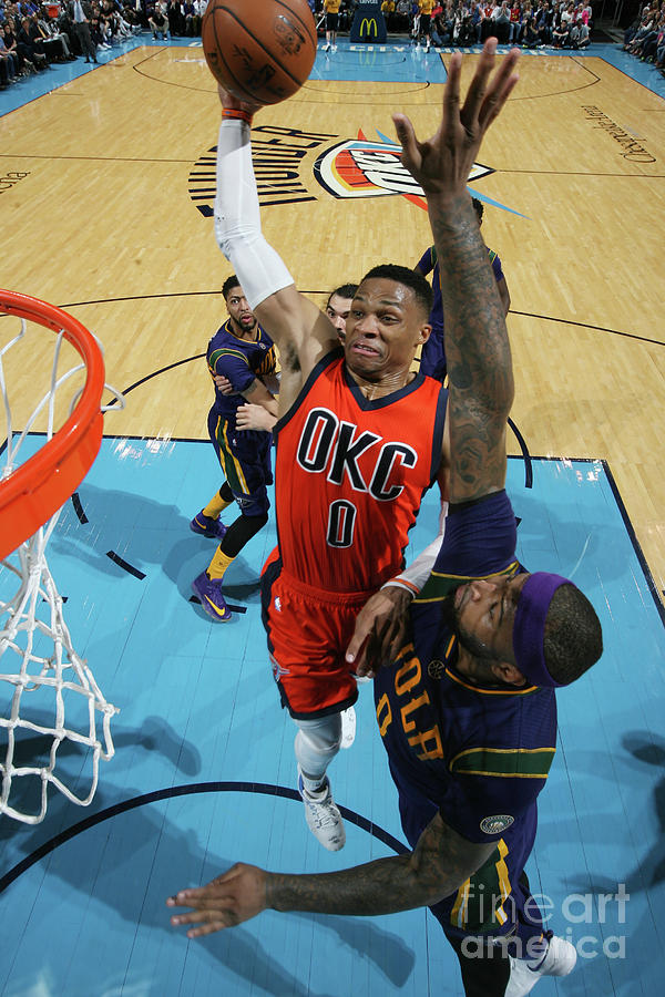 Demarcus Cousins and Russell Westbrook Photograph by Layne Murdoch