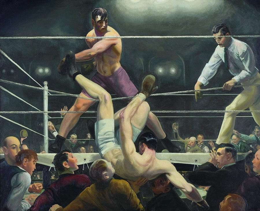 Dempsey Vs Firpo Painting