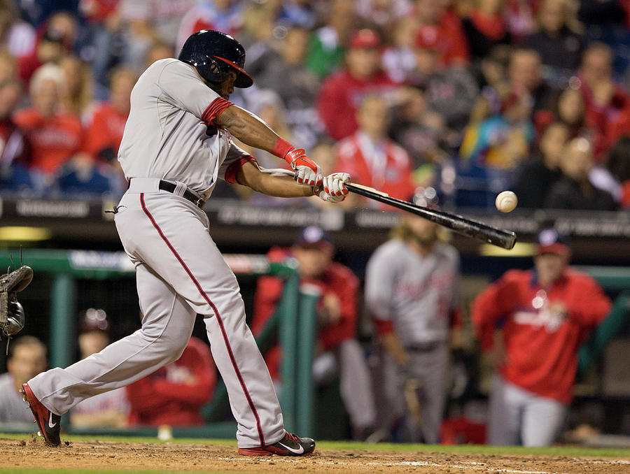 Denard Span Photograph by Mitchell Leff