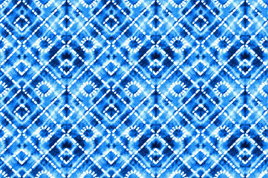 Denim Blue Tie Die Texture Repeat Modern Pattern Photograph