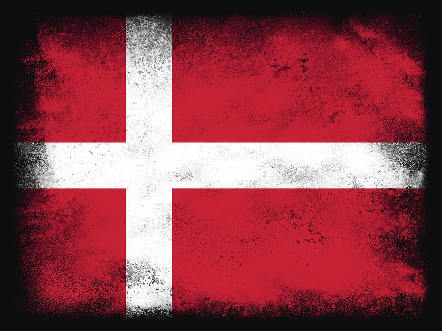 Denmark Flag Digital Art
