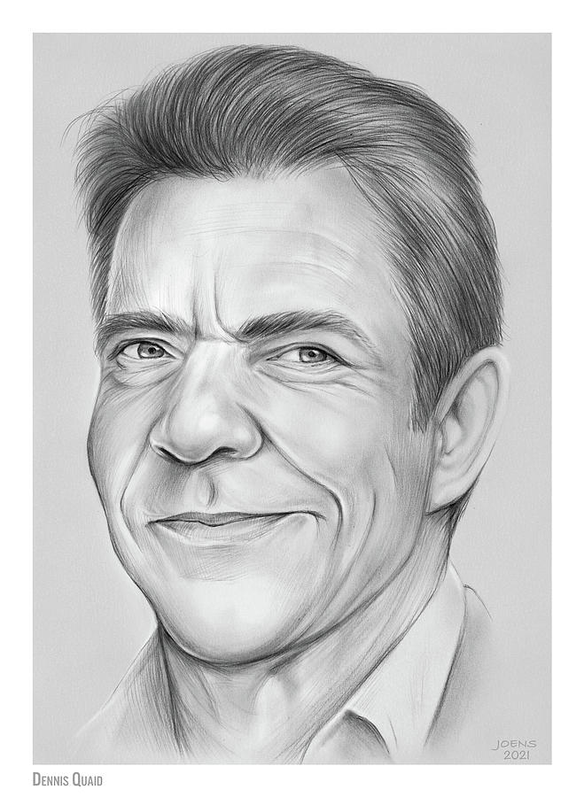 Dennis Quaid - Pencil Drawing