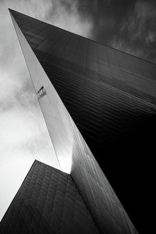 Denver Art Museum Photograph - Denver Art Museum in Black and White 1 by Kevin Schwalbe