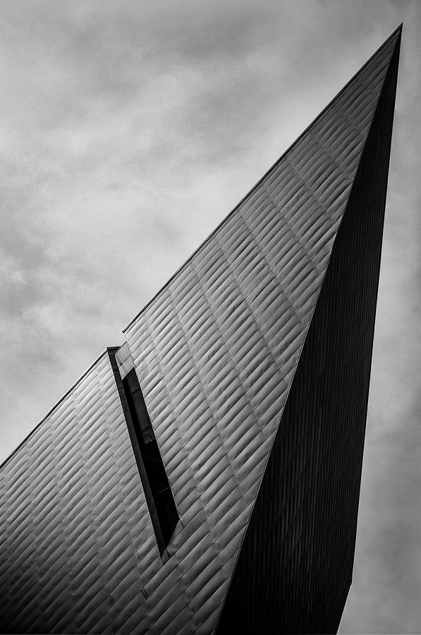 Denver Art Museum Photograph - Denver Art Museum in Black and White 2 by Kevin Schwalbe