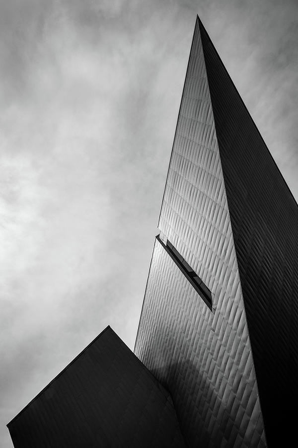 Denver Art Museum Photograph - Denver Art Museum in Black and White 3 by Kevin Schwalbe