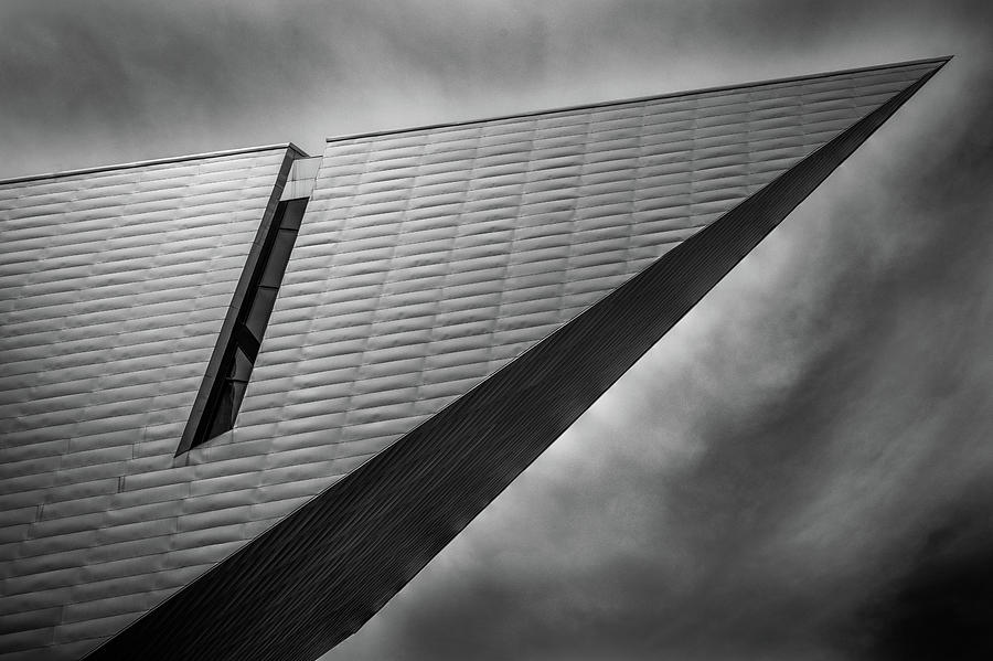 Denver Art Museum Photograph - Denver Art Museum in Black and White 4 by Kevin Schwalbe