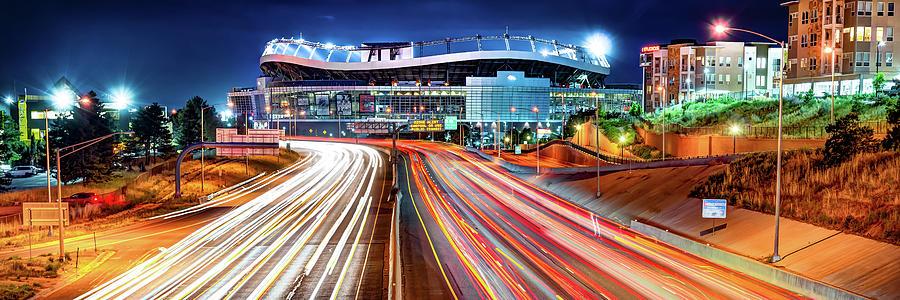 Denver Colorado Mile High Stadium Panorama Photograph