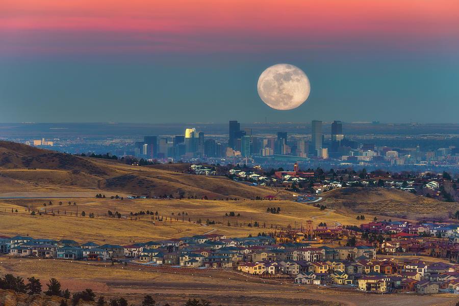 Denver Super Wolf Moon Photograph