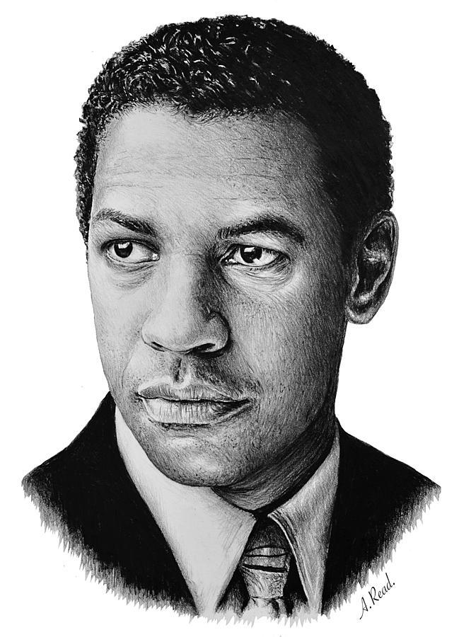 Denzel Washington Wb Edit Drawing