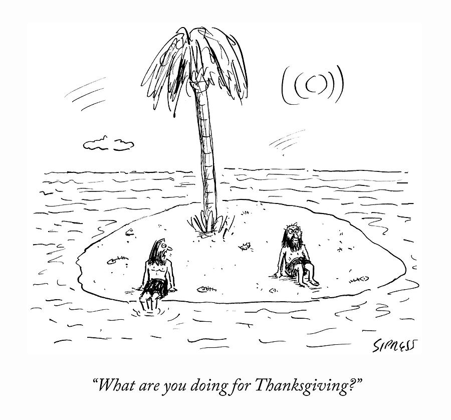 Desert Island Holiday Drawing by David Sipress