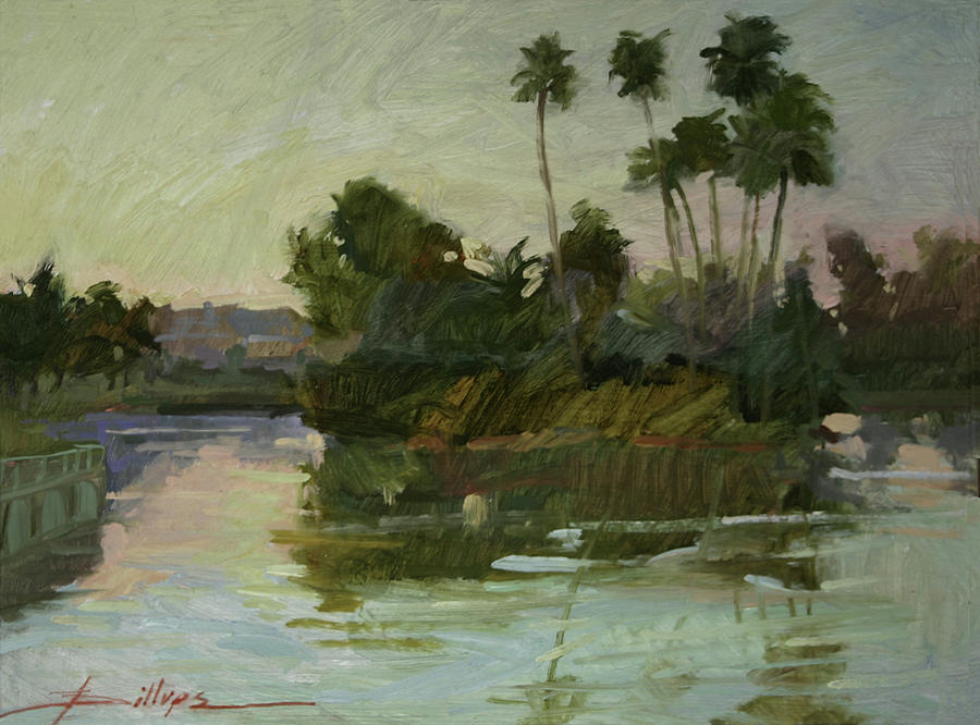 Plein Air Painting - Desert Isle by Betty Jean Billups