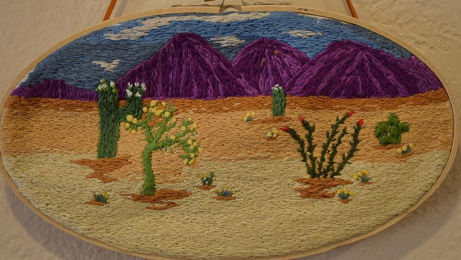 Desert Tapestry - Textile - Desert Splendor by Charla Van Vlack