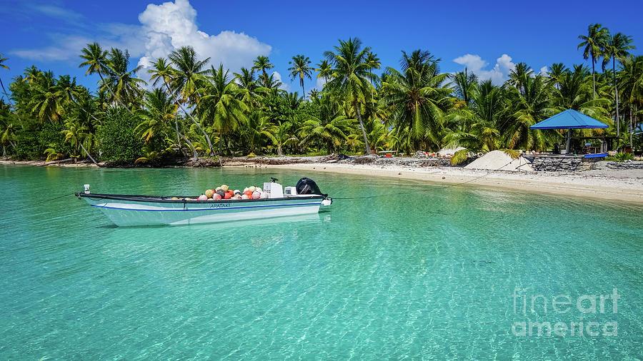 Deserted beach on Takapoto, Tuamotu by Lyl Dil Creations