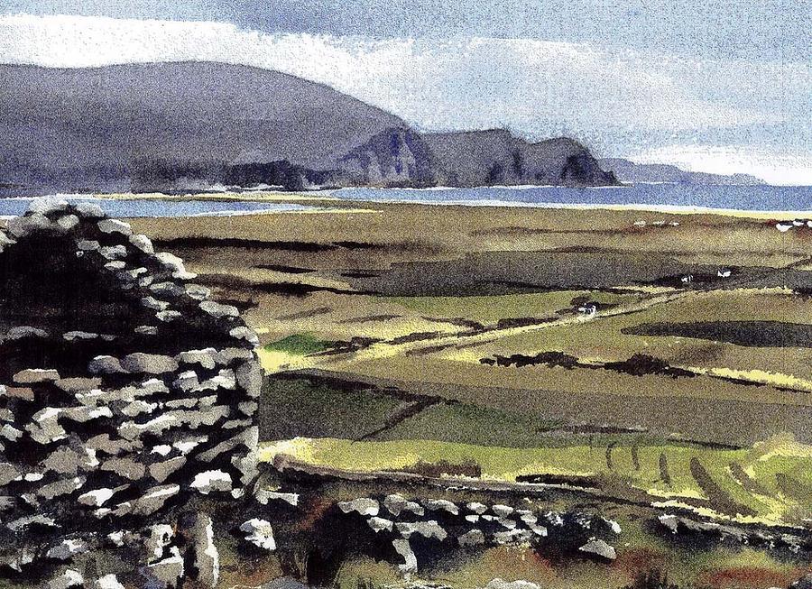Deserted Village, Slievemore, Achill. Mayo. by Val Byrne